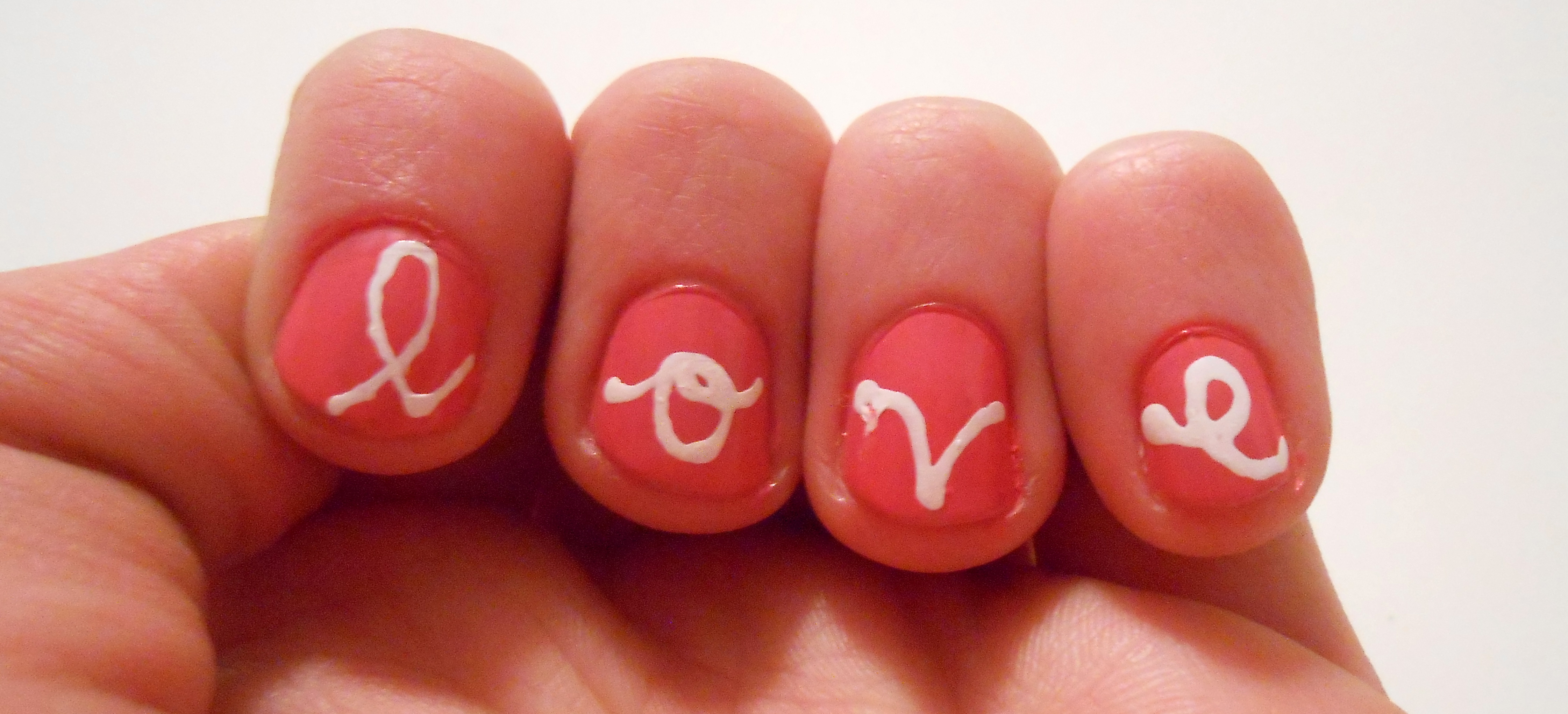 Diy nail design love script the little things in life dscn1919 prinsesfo Images
